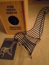 VITRA DESIGN MUSEUM Andrè Dubreuil, Spine Chair, 1986 Miniatura sedia metallo