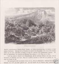 Attisholzbad Chez Soleure Suisse Holzstiche Um 1880