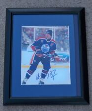 WAYNE GRETZKY Signed EDMONTON OILERS Framed 8x10 Photo