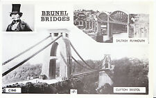Bridge Postcard - Brunel Bridges - Saltash - Plymouth - Clifton - Bristol   2195