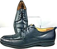 Coach Carleton Oxford Mens 11 B Black Leather Apron Toe Lace Up Dress Shoe Italy