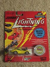 Johnny Lightning Diecast The Challengers Vicious Vette Yellow 1/64 MOC 1993