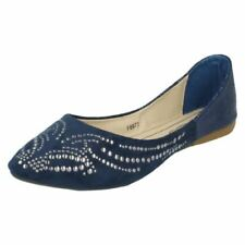 Zapatos planos de mujer de color principal azul Talla 37.5