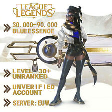 💎 EUW League of Legends LOL Account Smurf 30.000 - 80.000 BE Unranked Level 30