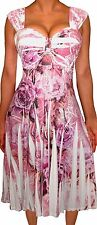 TX3 Funfash Plus Size Dress Pink White Empire Waist Cocktail Dress 2X 22 24