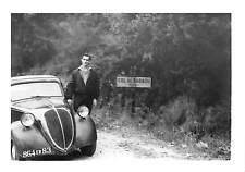 "PHOTO COL DE BABAOU "" AUTOMOBILE SIMCA 5 OU FIAT TOPOLINO """