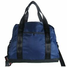 NEW Marc by Marc Jacobs Nylon Duffle Gym Bag with keychain in Navy