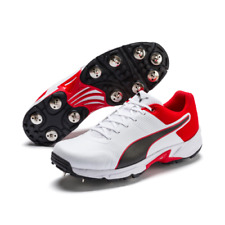 2020 Puma Spike 19.2 White Red Black Cricket Shoes Size UK 6 - 12