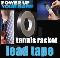 Tennis Racket Lead Tape Sticky Back Roll -ADD POWER- BALANCE-WEIGHT TO RACQUET