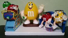 M&M's Dispensers Lot: 1991 Yellow m&m,  At The Movies And Wild Thing Roller Coas
