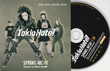 CD CARTONNE CARDSLEEVE COLLECTOR 1T TOKIO HOTEL SPRING NICHT REMIX INÉDIT 2007