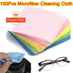 100PCS Cleaning Cloth Glasses Screen Sunglasses Phone Camera Lens Spectacles UK