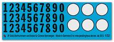 peddinghstampa 2646 1/32 NUMERO START E CERCHI PER CARRERA AUTO CORSA