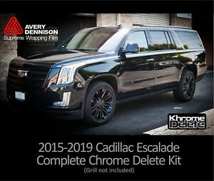 Chrome Delete Kit fitting the 2016-2019 Cadillac Escalade (Grill not included)