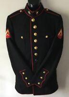 USMC US MARINE CORPS ENLISTED DRESS BLUES UNIFORM JACKET 38 S ( SHORT )Exc Cond