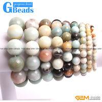 "Handmade Natural Amazonite Beaded Stretchy Bracelet 7"" XMAS Gift Free Shipping"