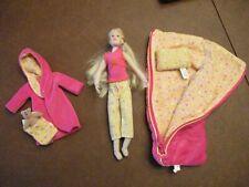 Only Hearts Club Doll w Robe Sleeping Bag w Matching Pillow Teddy Bear ~ Vguc