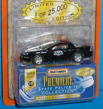 1997 MATCHBOX Premiere Chevy Camaro Kansas Highway Patrol Real Riders
