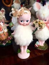 Rose O'neil Kewpie Carnival Doll * Antique Rabbits fur #4