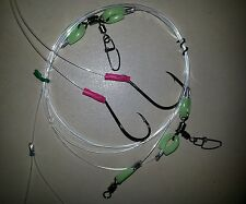 FISHING RIG BEST ULTIMATE 2 RIG SWAP HOOKS LUMO 100LB LINE 6/0 BEAK 7/0 CIRCLE