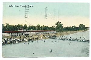 US 1913 Bathhouse Toledo Beach Postcard  Perry's Victory Put-In-Bay OH Postmark