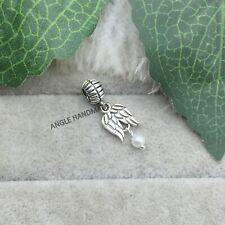 Nuevo Plata Plateado Luminoso Ariel Sirena Cuelgan blanco perla encanto Colgante