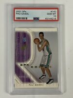 2001 SPx Pau Gasol #140 Rookie Card PSA 10 Gem Mint - 1819/1999 Lakers HOF!!!
