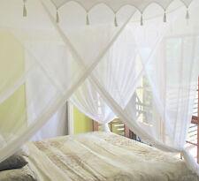 King Size Algodón Mosquitera cama dosel con decorativetop 100% Algodón De Calidad