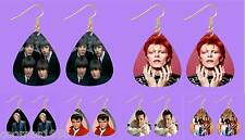 RETRO MUSIC GUITAR PICK/PLECTRUM EARRINGS GOLD PLATED WIRES BIRTHDAY XMAS