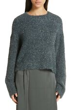 Vince Women's Sweater XS Sparkle Metallic Knit Boxy Pullover $325