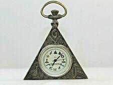 More details for masonic watch clock bronze triangle shape