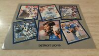 1981 Detroit Lions NFL 6 Player Card - 1981 Schedule & More on Back
