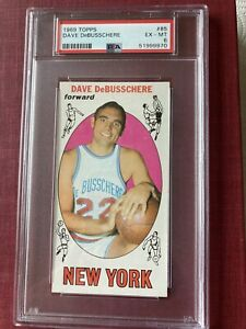 DAVE DeBUSSCHERE 1969 Topps card PSA ex-mt 6 NEW YORK KNICKS #85 DETROIT PISTONS