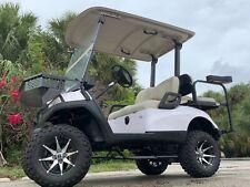 "White 2016 yamaha drive 2 48v 4 seat Passenger golf cart 12""rims lifted new body"