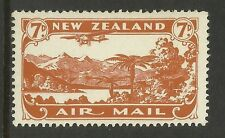 NEW ZEALAND 1931 AIRMAIL 7d BROWN 1v MINT
