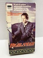 Highlander (VHS, 1986) Sean Connery Original HBO Cannon Release Sci-Fi As Is