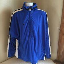 Diadora Mens Soccer Track Jacket Windbreaker Blue 1/2 Zip XL Free Shipping!