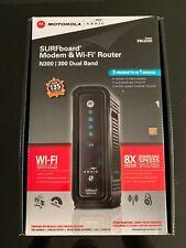 Motorola Arris SURFboard Modem & Wi-Fi Router N300 / 300 Dual Band Model SBG6580