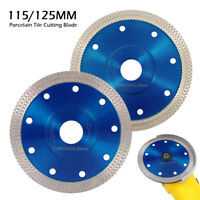 115/125mm Porcelain Tile Turbo Thin Diamond Dry Cutting blade/Disc Grinder wheel
