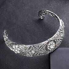 f664aa094 Silver Crystal Wedding Tiara Crown Bridal Headpiece Bride Headband Hair  Jewelry