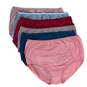 New Fruit of the Loom Women's Microfiber Brief Underwear (6 Pack)