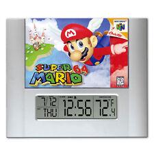 Super Mario 64 video game box art Digital Wall Desk Clock temperature + alarm