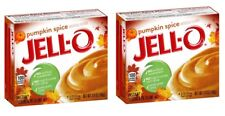 JELL-O  Pumpkin Spice Instant Pudding & Pie Mix 3.4 Oz,  2 BOXES Jello