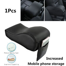 1x Leather Car Center Console Armrest Increased Pad Rest Seat Pads Phone Storage