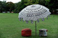 """Ombre Mandala Indian Cotton Handmade Garden Outdoor Sun Shade Patio Umbrella 80"""""""