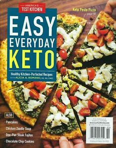 AMERICAS TEST KITCHEN ~ EASY EVERYDAY KETO 2021 Cook's Illustrated Recipes