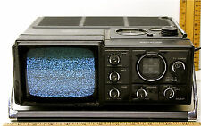 Vintage 1980 Samsung Portable Tv Model Bt-120Zt w/ Am - Fm Radio Ac 120v Dc 12v