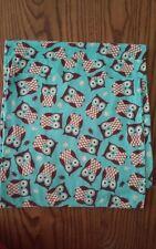 3 Flannel Owl Burp cloths
