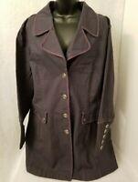 Motto NWT Womens Bluish Gray Botton Down Jean Jacket Coat Size 2X
