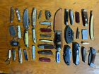 Lot of 37 Vintage and Non Vintage Knives for Cleaning Rehab Repair or Parts